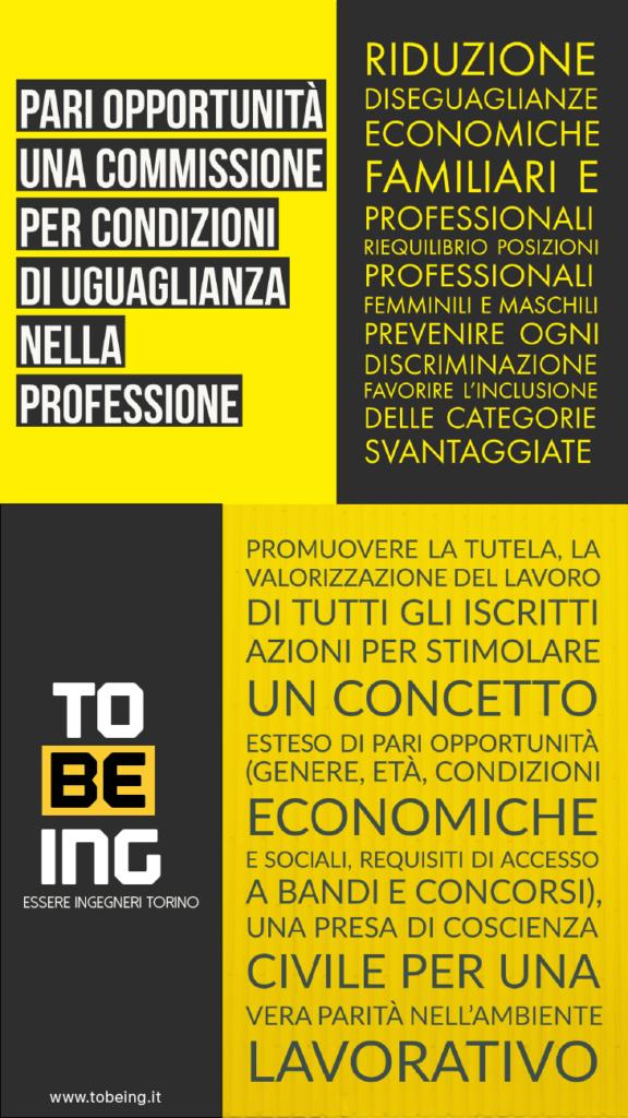 Elezioni Ordine Ingegneri Torino 2017 - TOBEING Pari Opportunità